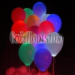 globos de colores de led